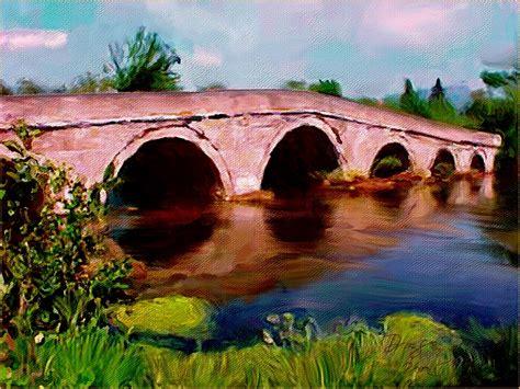 Roman bridge sarajevo digital painting