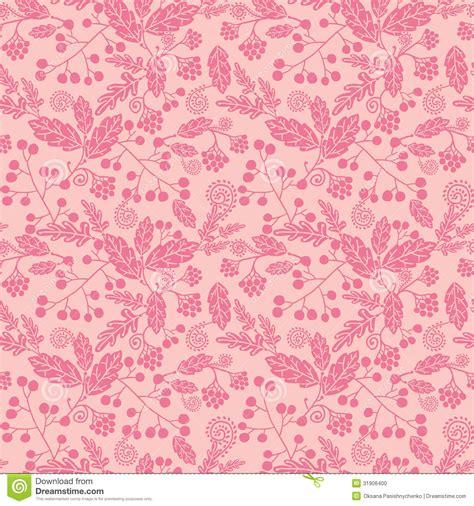 Ornament Chandelier Pink Silhouette Flowers Seamless Pattern Stock Vector