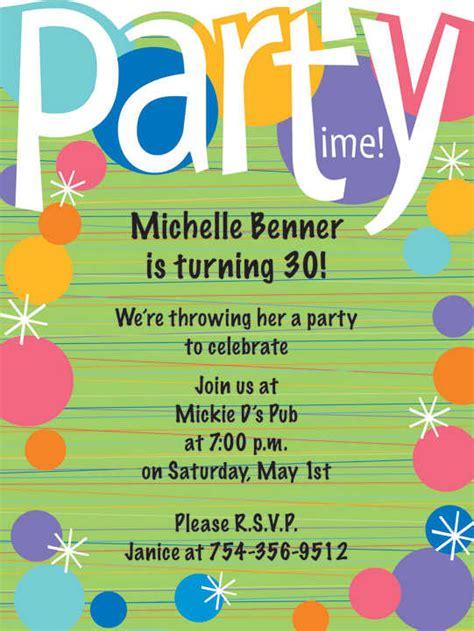 birthday invitation wording sles birthday invitation wording ideas httpwww birthday bash invitation safero adways