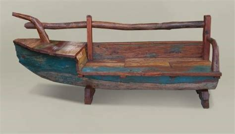 bench boat bench made from old bali boat wood pinterest