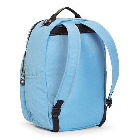 Vintage Retro Backpack Blue seoul large vintage laptop backpack blue grey kipling