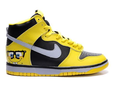 spongebob high tops nike dunks sneakers shoes for