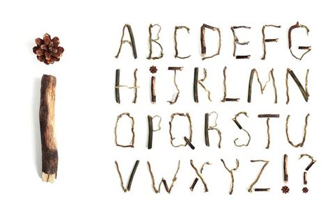 printable letters made out of objects alphabet made from branches objects on creative market