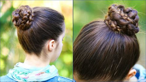 soccer haircut steps quick easy braided bun for school 2 minute hairstyle