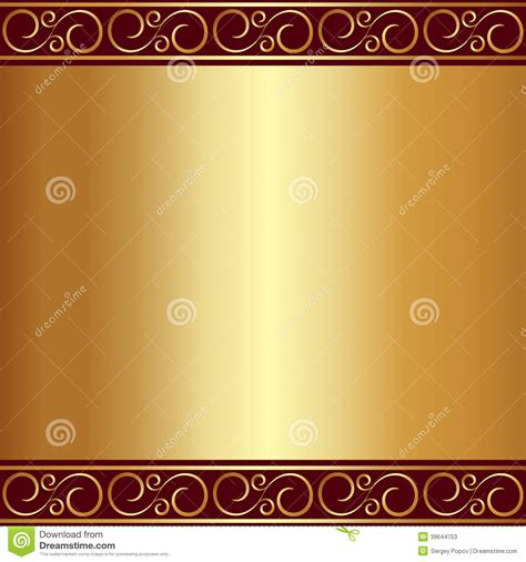 Vector abstract gold plate background with vignettes stock vector image 39644753