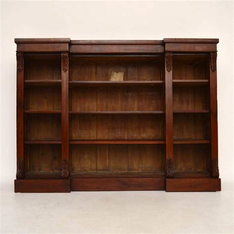 antique mahogany open bookcase for sale at 1stdibs