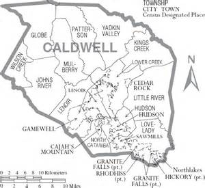 map of caldwell caldwell county carolina history genealogy records