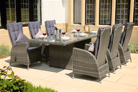 Rattan Patio Furniture Set Wicker Furniture Idea With Rattan Dining Sets On Patio With Padded Backrests Rattan Dining Sets