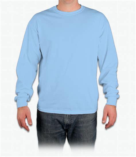 design t shirt blue cotton custom gildan ultra cotton long sleeve t shirt design online