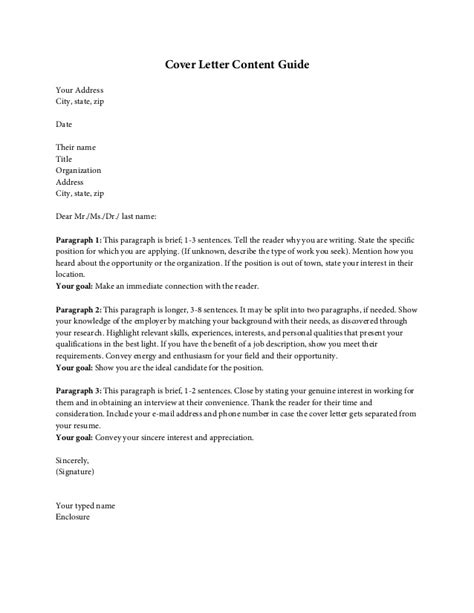 Motivation Letter Content Cover Letter Content