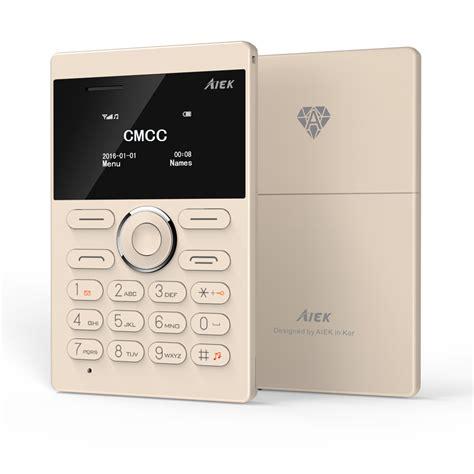 Mini 1 Cell pre sell 2016 new card phone aiek e1 cell phone pk mini phoneifcane e1 mobile phone cellphone