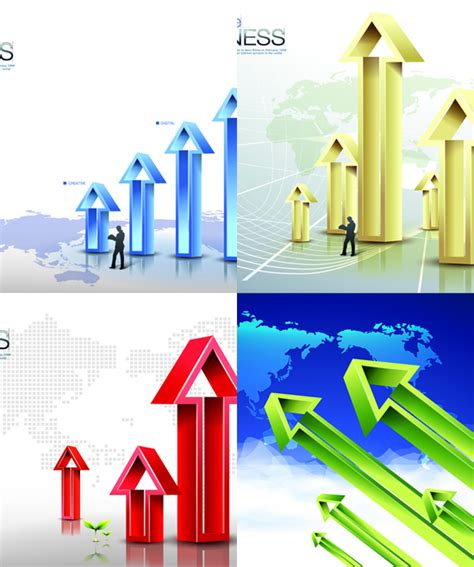 poster design elements vector arrow information financial poster design elements vector