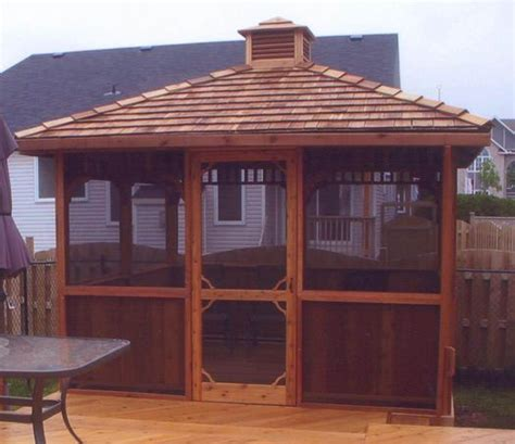 Cupola Kit by A Screened Square Gazebo Kit With An Added Cupola Keeps
