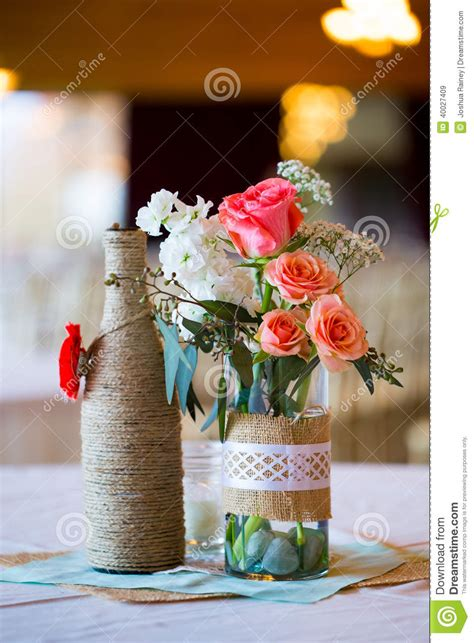 wedding reception table centerpieces stock image image