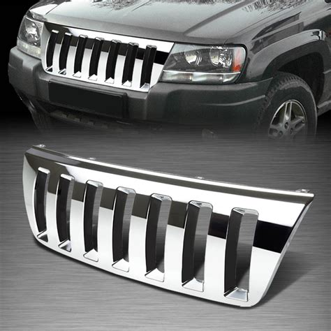 Front Grill Jeep Grand For 99 04 Jeep Grand Wj Abs Plastic Chrome Front