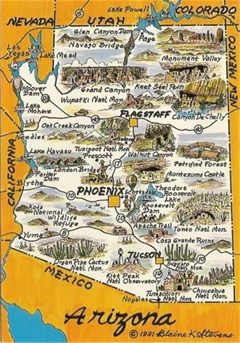 arizona tourism map 17 best images about tourist maps on parks