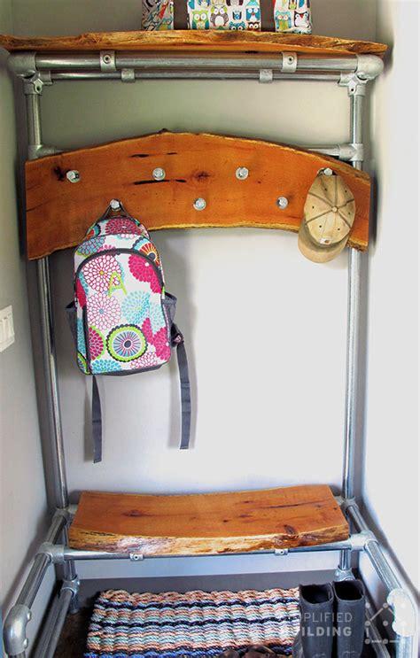 diy built in coat rack bench diy entryway bench with coat rack simplified building