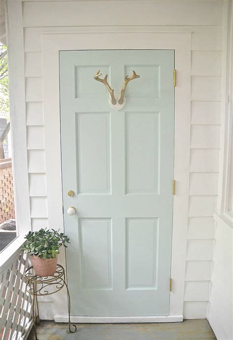mint door sunroom makeover mint door door makeover and behr