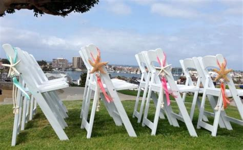 diy wedding ceremony chair decorations 4 wedding decor starfish chair decorations with satin and sheer ribbons choose from 4