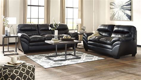 black living room set tassler durablend black living room set from ashley