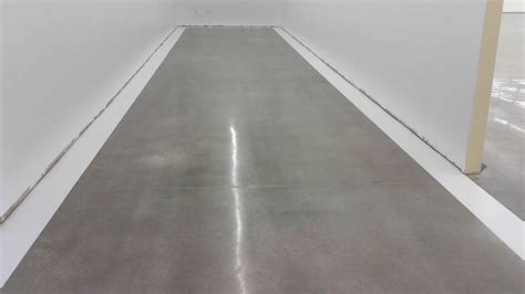 1 foot painted stripes around the border of polished