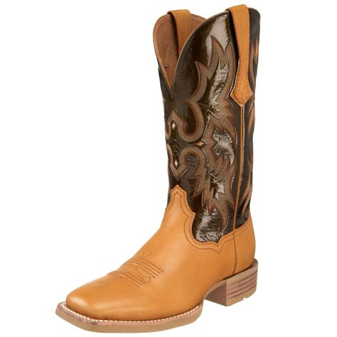 ariat tombstone boots ariat tombstone boot in brown pine olive patent lyst
