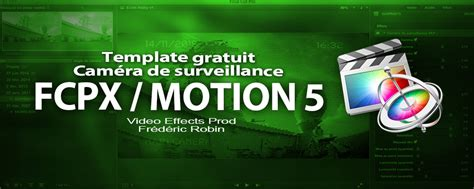 free template fcpx motion 5 cam 233 ra de surveillance