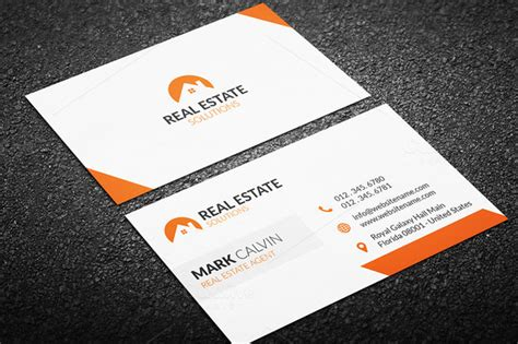 real estate business card templates 20 real estate business card templates