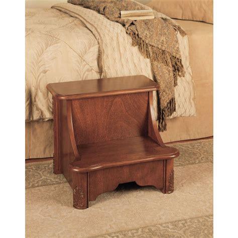 home furnishings woodbury mahogany bed step with storage