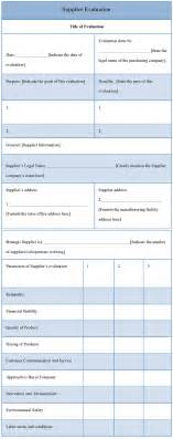 supplier performance evaluation template evaluation template for supplier template of supplier