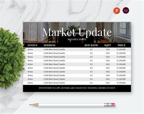 8 5 X 5 5 Large Real Estate Postcard Template Market Update Etsy Real Estate Market Update Template