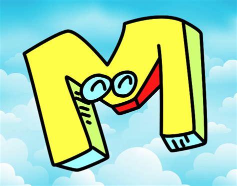 desenho de letra m pintado desenho de letra m pintado e colorido por usu 225 n 227 o registrado o dia 27 de junho do 2017