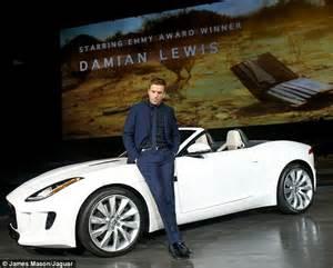 Jaguar Tagline Damian Lewis Delivers New Jaguar F Type Sports Car In Mini