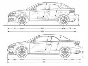 audi a3 cabriolet dimension comparison between the and