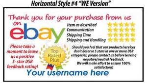 ebay business cards 50 ebay seller custom personalized 5 reminder thank you business cards ebay