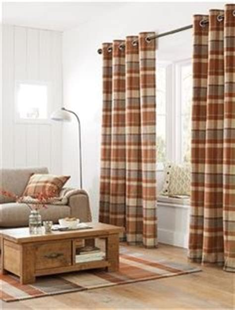 Ginger Rustic Woven Check Eyelet by Ginger Rustic Woven Check Eyelet Curtains Living Room