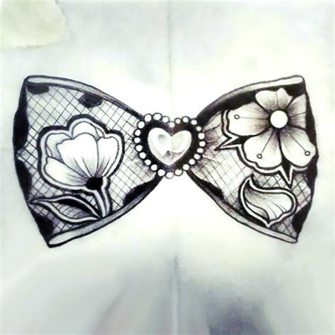 bow tie tattoo lace bow design
