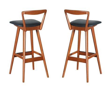 Hansen Teak Bar Stools by Pair Of Henry Rosengren Hansen Teak Bar Stools For Brande