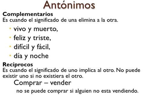 significado de antonimos y ejemplos de antonimos postea mejor ejemplo de ant 243 nimos