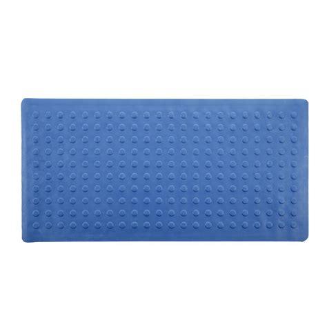 bathtub rubber mat slipx solutions 18 in x 36 in rubber bath mat in blue