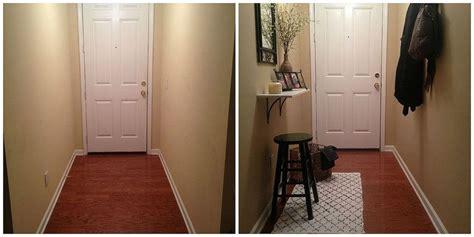 small  narrow entryway update narrow entryway