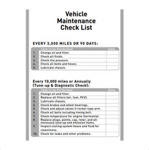 Vehicle Maintenance Planner Template Vehicle Maintenance Schedule Template 8 Free Word