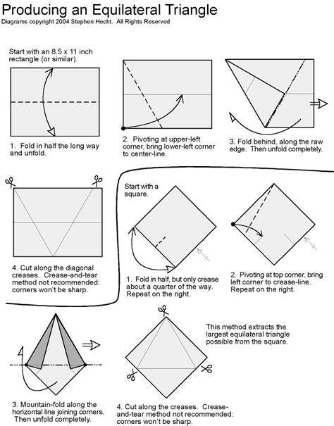 Origami Box Diagram - origami how to create d triangle origami fox box