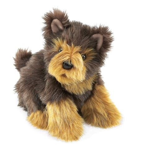 yorkie stuff yorkie puppy puppet by folkmanis puppets