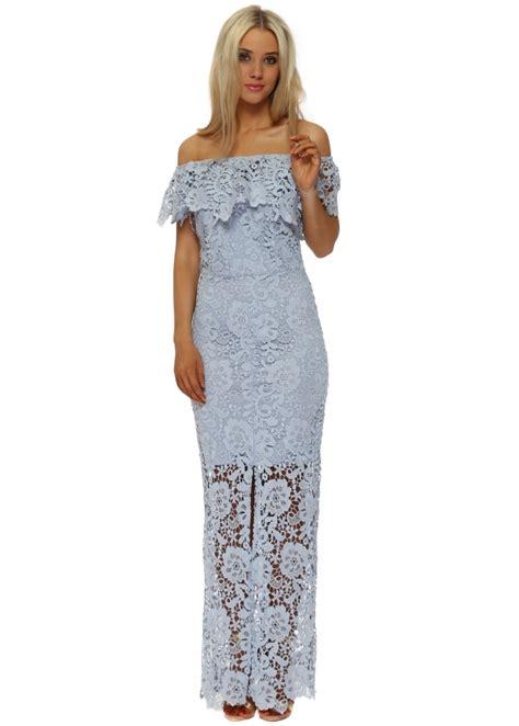 paper dolls blue lace maxi dress