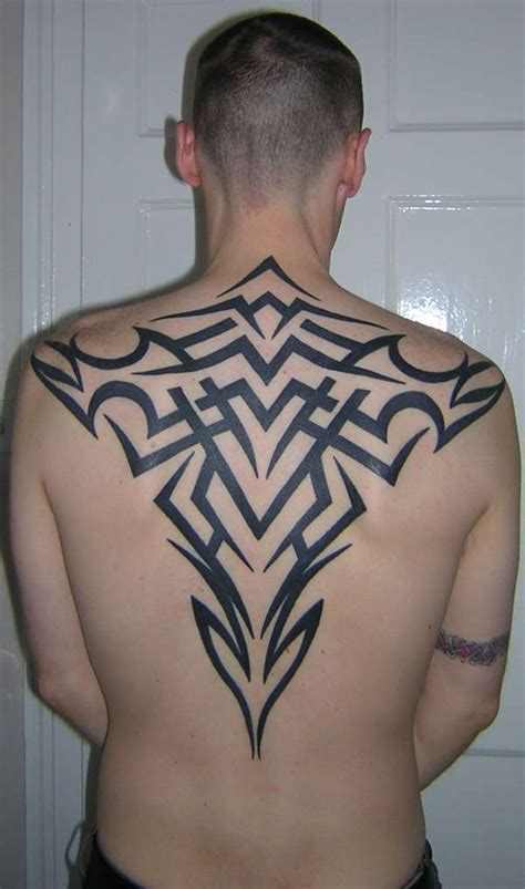 tattoo back man tribal tribal back piece tattoo