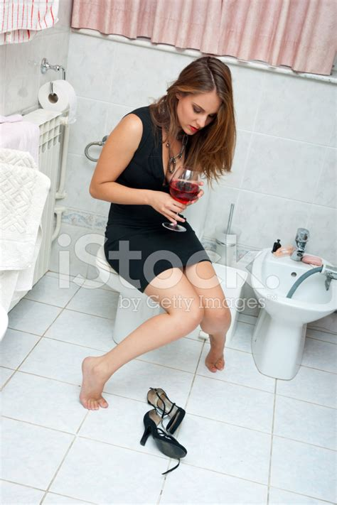 Gourmet Kitchen Designs Attractive Drunk Woman With Wine Stock Photos Freeimages Com