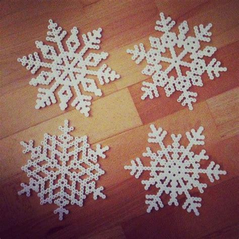 perler snowflakes snowflakes hama perler by emiliedyrlund crafts