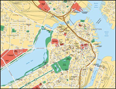 map  boston city maps  united states planetologcom