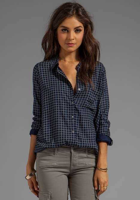Casual Trend Alert Plaid Shirts Andjeans by Soft Joie Anabella Plaid Button Womens Shirt